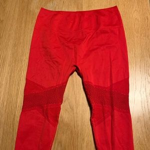 Red Fabletics Work Out Pants